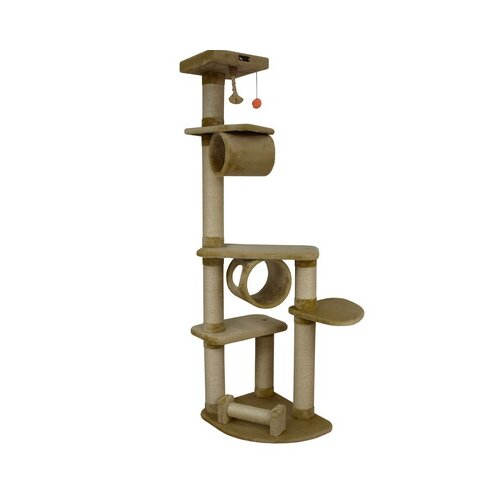 "Armarkat 74"" Classic Cat Tree in Dark Beige"