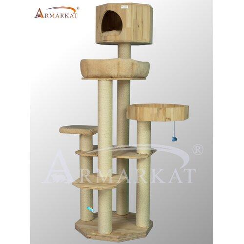 "Armarkat 72"" Solid Wood Cat Tree"