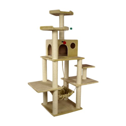 "Armarkat 72"" Classic Cat Tree in Beige"
