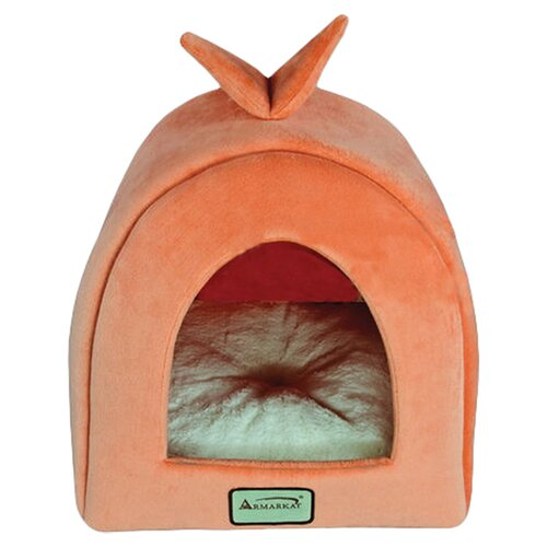 Armarkat Cat Bed in Orange and Ivory