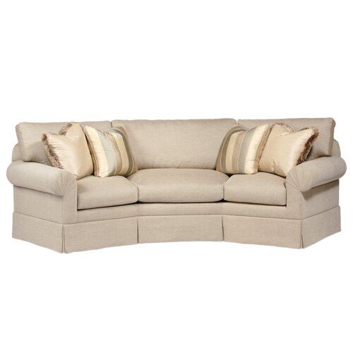 Curved back conversation sofa wayfair for Conversation sofa