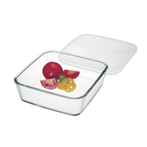 Square Storage Dish with Plastic Lid