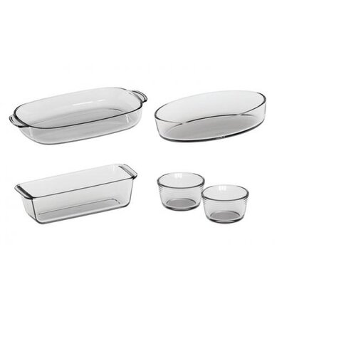 5-Piece Borosilicate Glass Casserole Set