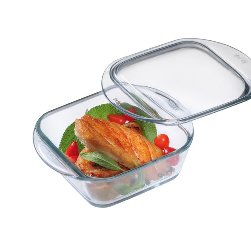 0.3-qt. Borosilicate Glass Mini Square Casserole