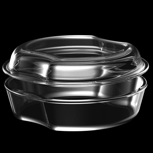 Exclusive Glass Round Casserole