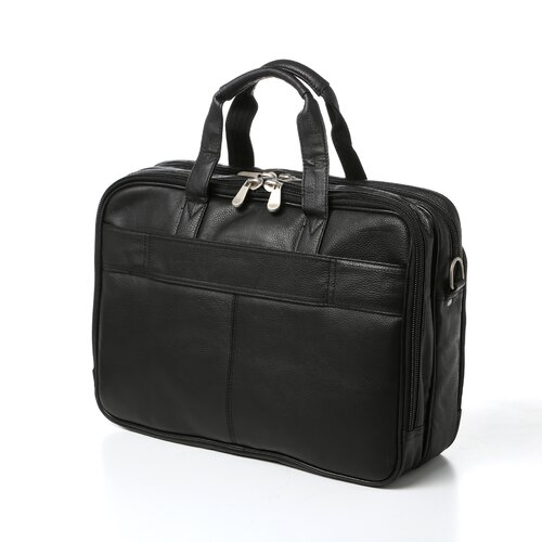 Soft Sided Leather Laptop Briefcase