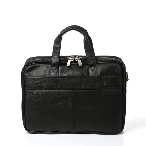 Bellino Soft Sided Leather Laptop Briefcase
