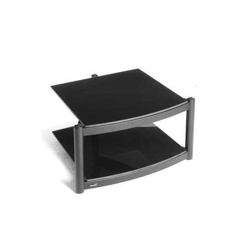 Atacama Audio Equinox Hi Fi Modular 2 Shelf Base with ARC Glass in Polished Black