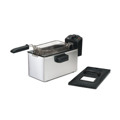 Gourmet 3.5 Liter Stainless Steel Immersion Deep Fryer