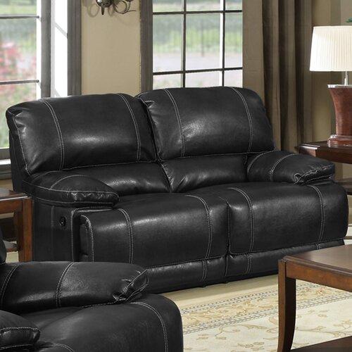 Appalachian Leather Reclining Loveseat