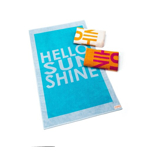 FREEMAN LEFT COAST LIFE Hello Sunshine Beach Towel