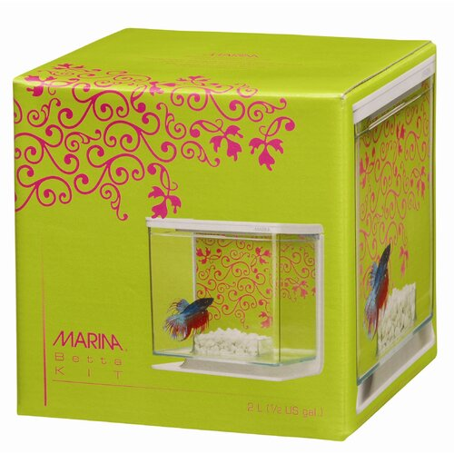 Marina by Hagen Marina 0.5 Gallon Girl Theme Betta Aquarium Kit
