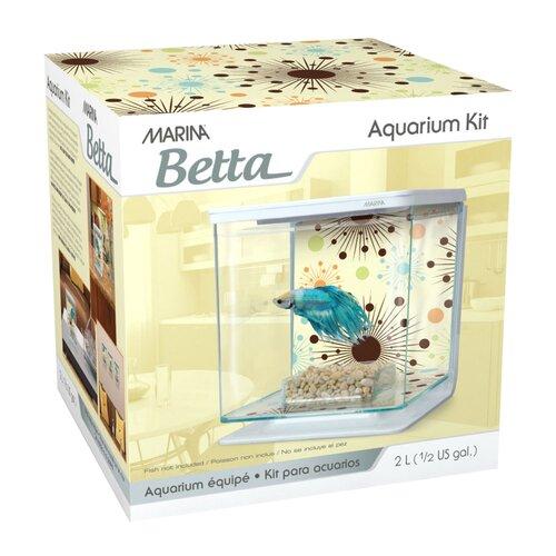 Marina by Hagen Marina 0.5 Gallon Fireworks Betta Aquarium Kit