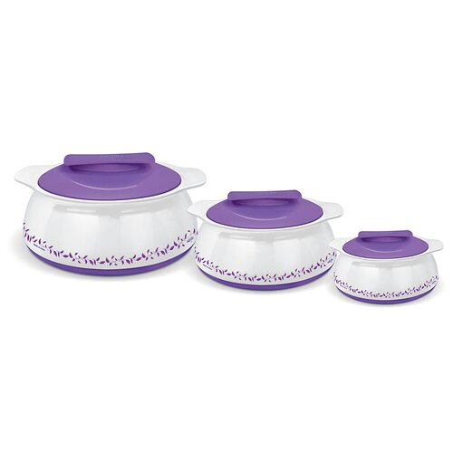 Exotique 3-Piece Stainless Steel Oval Casserole Set