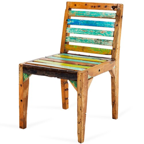 Castaway Reclaimed Wood Side Chair