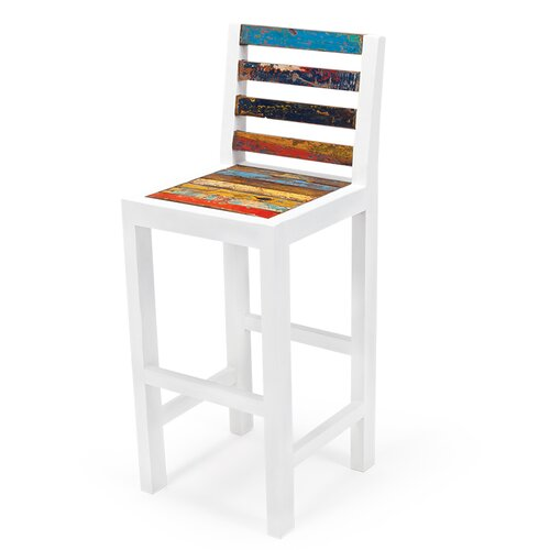 Even Keel Reclaimed Wood Bar Chair