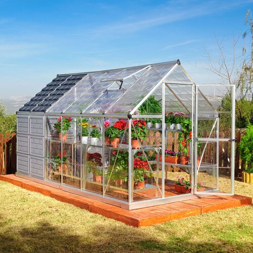 Palram Grow and Store 12' W x 6' D Polycarbonate Greenhouse