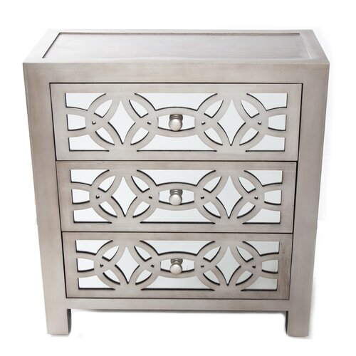 Home Goods Mirrored Furniture: River Of Goods Glam Slam 3 Drawer Mirror Chest & Reviews