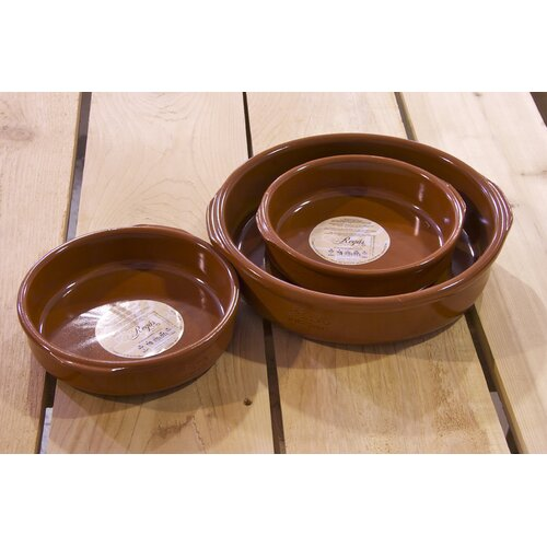 3 Piece Classic Terracotta Casserole Set