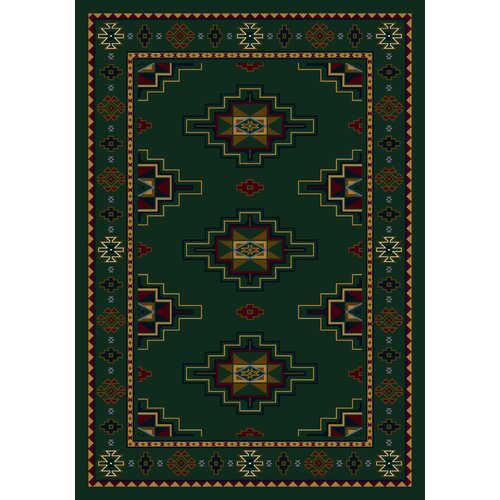 Milliken Signature Prairie Star Emerald Rug