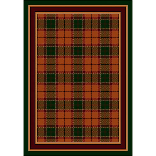 Design Center Magee Plaid Amber Emerald Rug