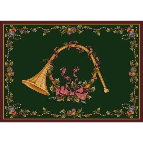 Milliken Winter Seasonal French Horn Novelty Rug