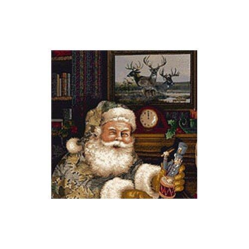 Milliken Realtree Camo Santa Christmas Novelty Rug