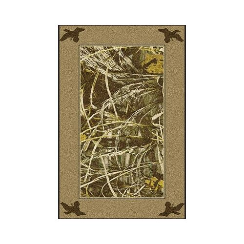 Milliken Realtree Max 4 Solid Border Novelty Rug