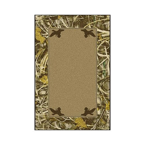 Milliken Realtree Max 4 Solid Center Novelty Rug