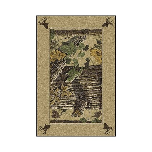 Milliken Realtree X-tra Solid Border Novelty Rug