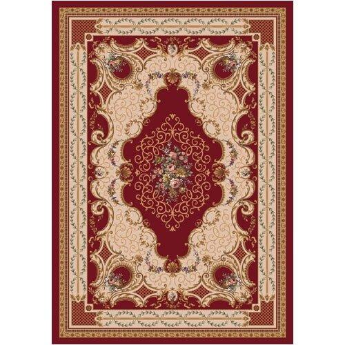 Milliken Pastiche Kashmiran Valette Dark Red Rug