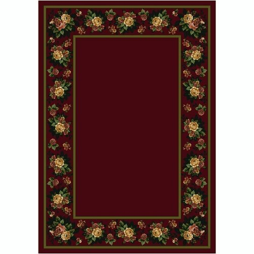 Design Center Floral Lace Cranberry Rug
