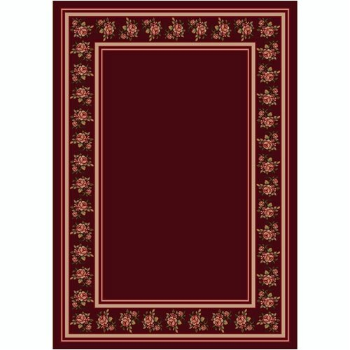 Design Center Rosalie Cranberry Rug