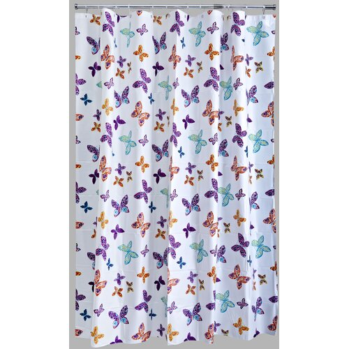 mainstream by aqualona peva butterfly blossom shower curtain
