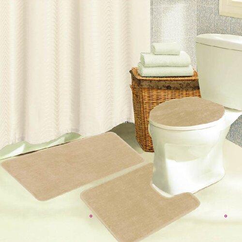 Kashi Home Brandy 3 Piece Bath Rug Set Reviews Wayfair