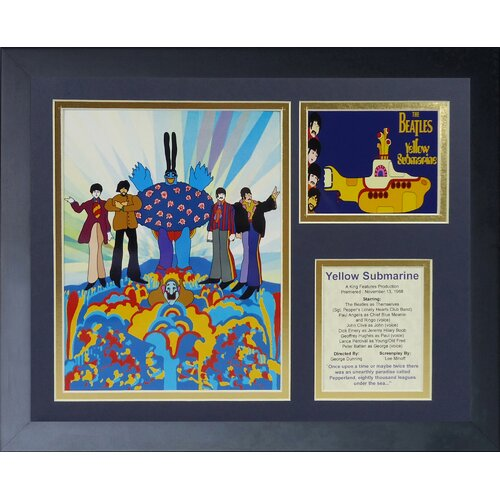 The Beatles - Yellow Submarine Framed Photo Collage