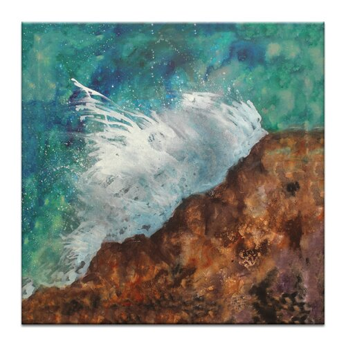 Splash by Jennifer Webb Painting Print on Canvas