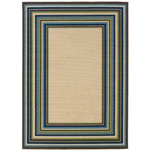 Oriental Weavers Caspian Ivory/Blue Indoor/Outdoor Rug