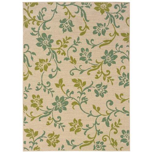 Oriental Weavers Caspian Ivory/Green Indoor/Outdoor Rug