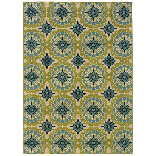 Oriental Weavers Caspian Green/Blue/Ivory Indoor/Outdoor Rug