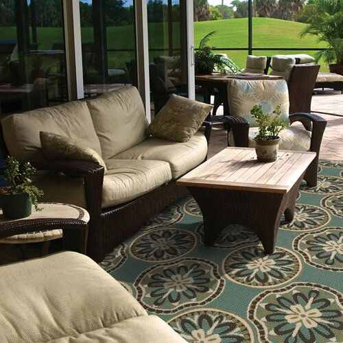 Oriental Weavers Montego Blue/Ivory Outdoor Rug