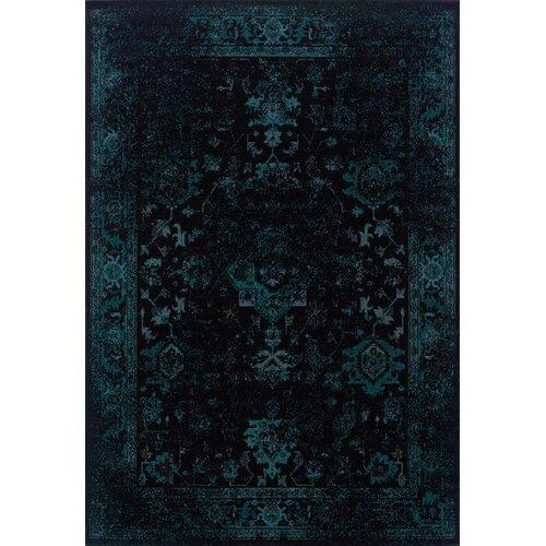 Oriental Weavers Revival Black/Teal Area Rug & Reviews