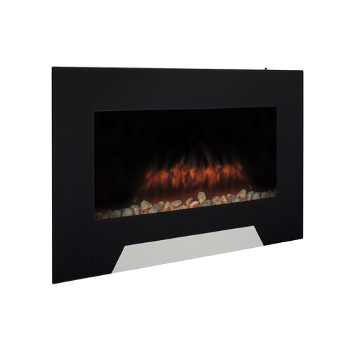 Wall mounted electric fireplace wayfair for 24 wall mount electric fireplace