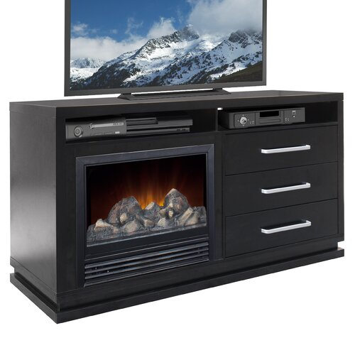 corliving 60 quot tv stand with fireplace reviews