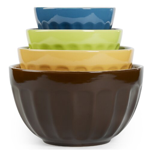 4 Piece Cafe Multi Mixing Bowl Set
