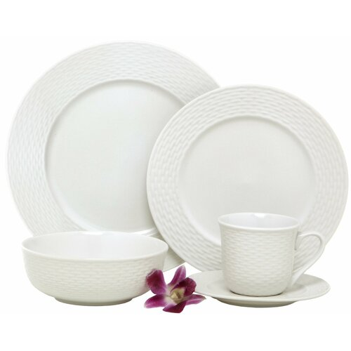 Nantucket Weave 20 Piece Place Setting