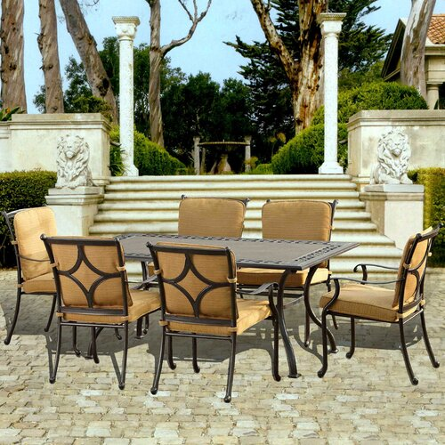 Canyon 7 Piece Dining Set with Cushions