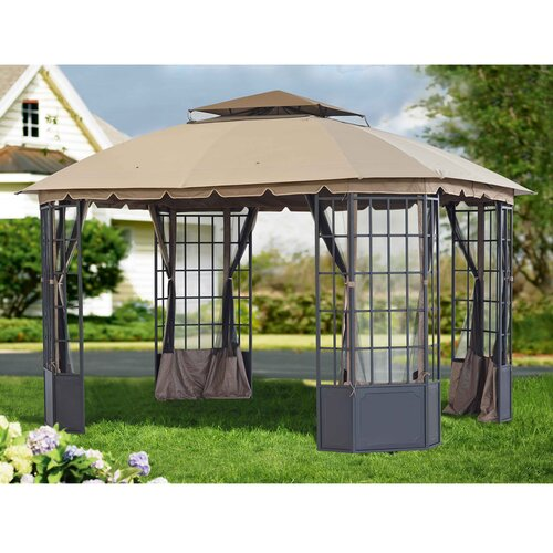 Sunjoy Chambord 12 Ft W X 10 Ft D Steel Gazebo Amp Reviews