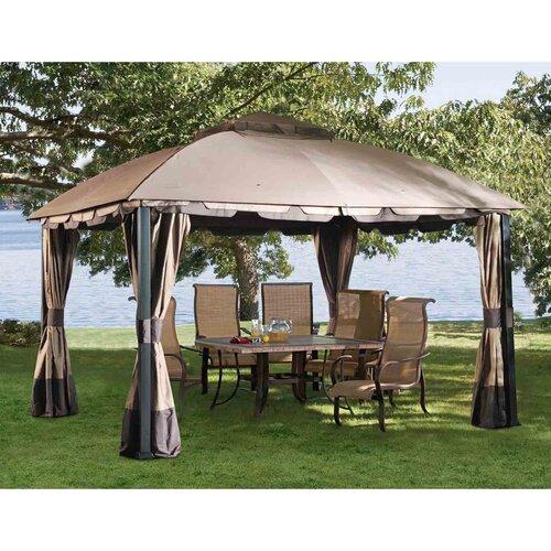 Sunjoy Pine Knob Canopy 12 Ft. W X 10 Ft. D Steel Gazebo