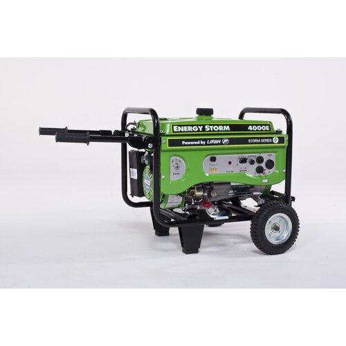 Energy Storm 4000 Watt Gasoline Generator with Wheel Kit